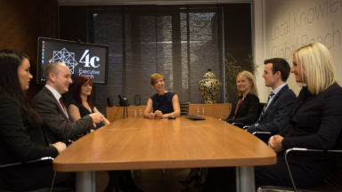 4C Staff in Boardroom
