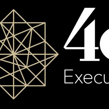 4c logo black background