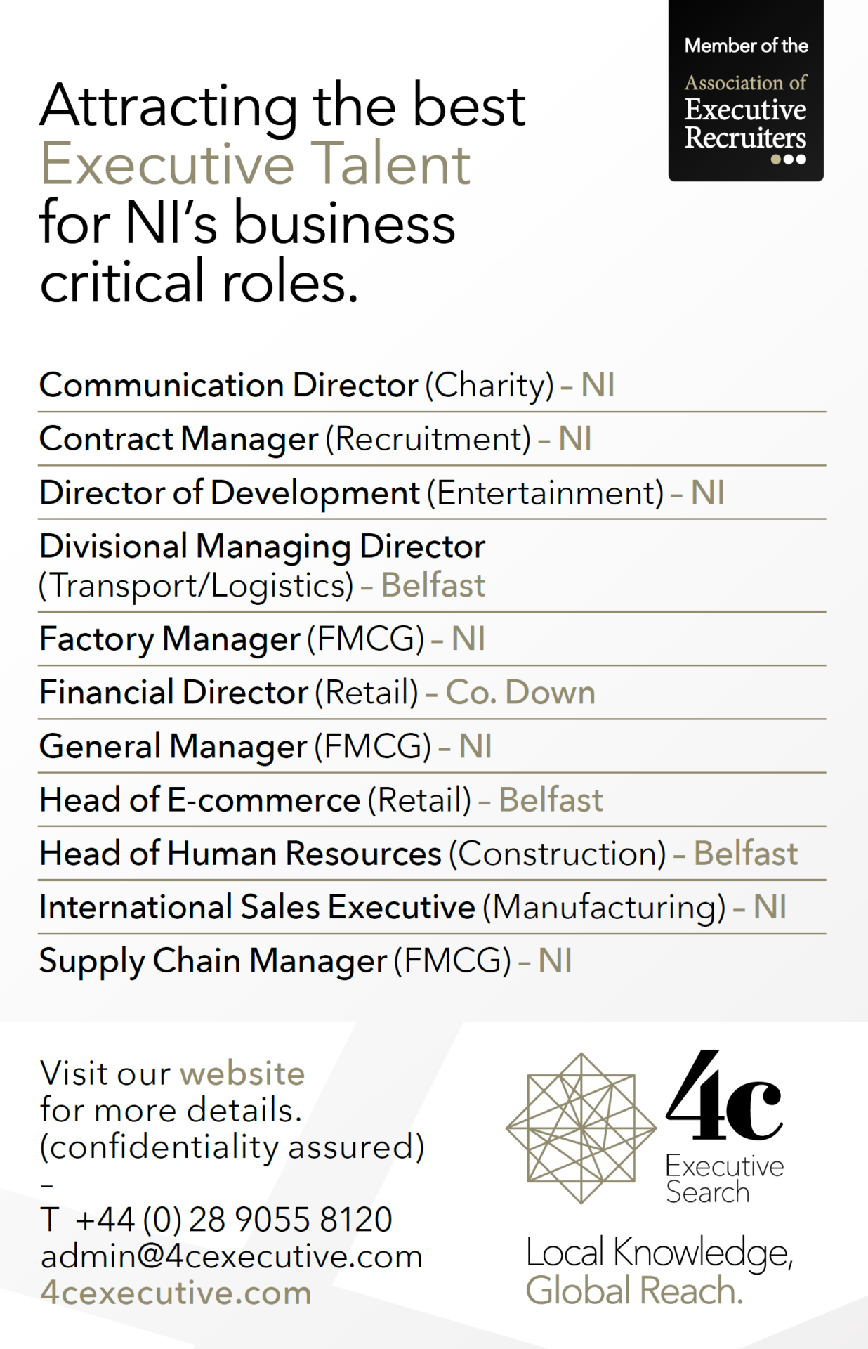Roles Advert January 2015