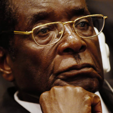President of Zimbabwe Robert Mugabe listens as Prof. Alpha Oumar Konare, chairman of the Commission of the African Union, addresses attendees at the opening ceremony of the 10th Ordinary Session of the Assembly during the African Union Summit in Addis Ab aba, Ethiopia, Jan. 31, 2008. (U.S. Air Force photo by Tech. Sgt. Jeremy Lock) (Released)